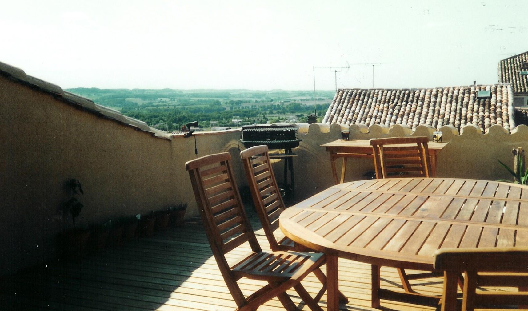 Roof terrace, decking, near Bergerac